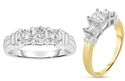 1.00 CTTW 3-Stone Certified Diamond Ring in 14-Karat Gold