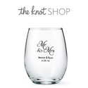 The Knot Wedding Shop: 20% OFF Any Order with Stemless Wine Glass