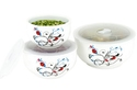 6-Piece Ceramic Bowl Set with Microwave Vent Lids