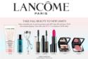 Lancome: 订单满$49送八件旅行装礼包+免运费