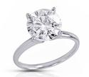 2.25、2.50、3.00克拉钻石镶嵌18K金钻戒