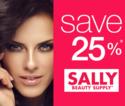 Sally Beauty: 订单满$40享25% OFF