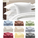 Deluxe 100% Cotton Sateen Bed Sheet 4-Piece Set