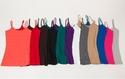 女士棉质弹性吊带打底衫 12件