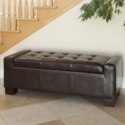 Last day valid! Groupon has Rothwell Tufted Bonded Leather Storage-Bench Ottoman for $123.49 after applying coupon code: VISA5. Shipping is free. Valid thru 11/25/2015.