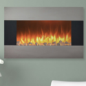 """Northwest 36"""" Stainless Steel Electric Fireplace with Wall Mount"""
