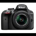 Nikon D3300 Digital SLR Camera with 18-55mm f/3.5-5.6G VR II Lens, Black