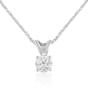 1/4 CTTW Diamond Solitaire Pendant in 14K Gold