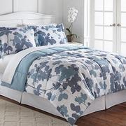 LivingQuarters Reversible Microfiber Down-Alternative Gladis Floral Comforter