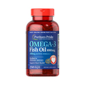 Puritan's Pride Omega-3 Fish Oil 1000 mg / 100 Softgels*3 Bottles