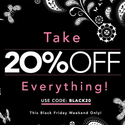 20% OFF Sitewide + Worldwide Free Shipping