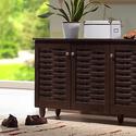 Winda Dark Brown Shoe Cabinet