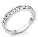 0.25CTTW Diamond Channel 10K Gold Band