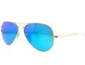 Ray Ban  Mirror Lens Unisex Aviator Sunglasses 58MM