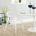 Locus Dining Side Chair in White