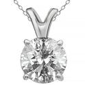 1.00–2.00 CTW Round Diamond Solitaire Pendants by Brilliant Diamond