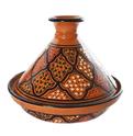 Le Souk Ceramique CT-MIEL-22 Cookable Tagine 9-Inch Honey Design