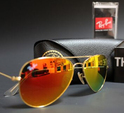 Ray Ban RB3025 Aviator Sunglasses Gold Frame (Orange Flash Lens) 58mm