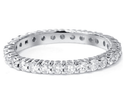 1.00CT Round Diamond Eternity 14K White Gold Wedding Ring