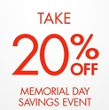Memorial Day Savings Event Extra 20% OFF