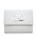 Ferragamo Open Box - White Leather French Purse