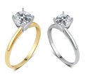 3/4 CTTW Round-Cut Diamond Solitaire Ring in 14K Gold