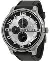 Versus By Versace Multi-function Black Rubber Men's Watch