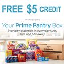 $5 Prime Pantry Credit When You Choose No-Rush Shipping