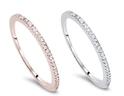 0.15 CTTW Diamond Ring in 10K White or Rose Gold by Bliss Diamond