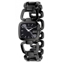 Gucci Women's 125 G-Gucci Black IP Steel and Dial Watch YA125403
