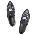 JIMMY CHOO Cannon printed satin slip-on sneakers