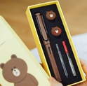 Line Friends Lamy Safari Brown Bear Fountain Limited Edition Factory Sealed