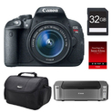 Canon EOS 70D DSLR Camera (Body) +32GB +Printer Bundle