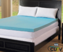 "Simmons Curv 1.5"" Gel Memory-Foam Mattress Topper"