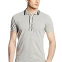 迪赛Diesel 男士Polo 灰色S 码T恤衫