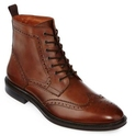 Stafford Deacon Mens Wingtip Leather Boots