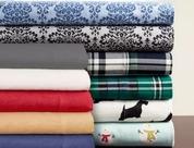 Winter Nights 100% Cotton Flannel Sheet Set