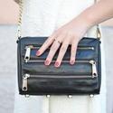 Rebecca Minkoff Mini 5-Zip Convertible Cross-Body Handbag,Bitter Sweet