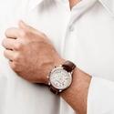 Baume and Mercier Capeland White Dial Chronograph Men's Watch