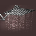 """8"""", 10"""", or 12"""" Stainless Steel Rainfall Showerhead with Optional 11"""" Extension Arm"""
