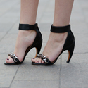 Givenchy Leather Sandals with Chain