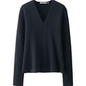 Uniqlo Women Lemaire Milano Rib Flare V-Neck Sweater