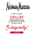 25% OFF on Select Items for Limited Time