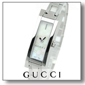 Gucci Women's Stainless Steel MOP Dial SS Rectangle Watch
