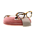Miu Miu by Prada Women's 0MU 06LV Yellow Havana Eyeglasses Frames