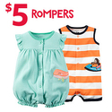 Rompers Only for $5