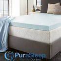 PuraSleep Perfect Temp Gel Cooled Memory Foam Mattress Topper