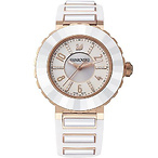 White Rose Gold Tone Watch