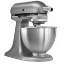 KitchenAid KSM75SL Classic Plus 4.5 Qt. Silver Stand Mixer