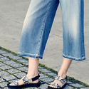 7 For All Mankind High-Waist Denim Culottes